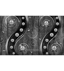 Фототапет Вихър - черно-бял 3D