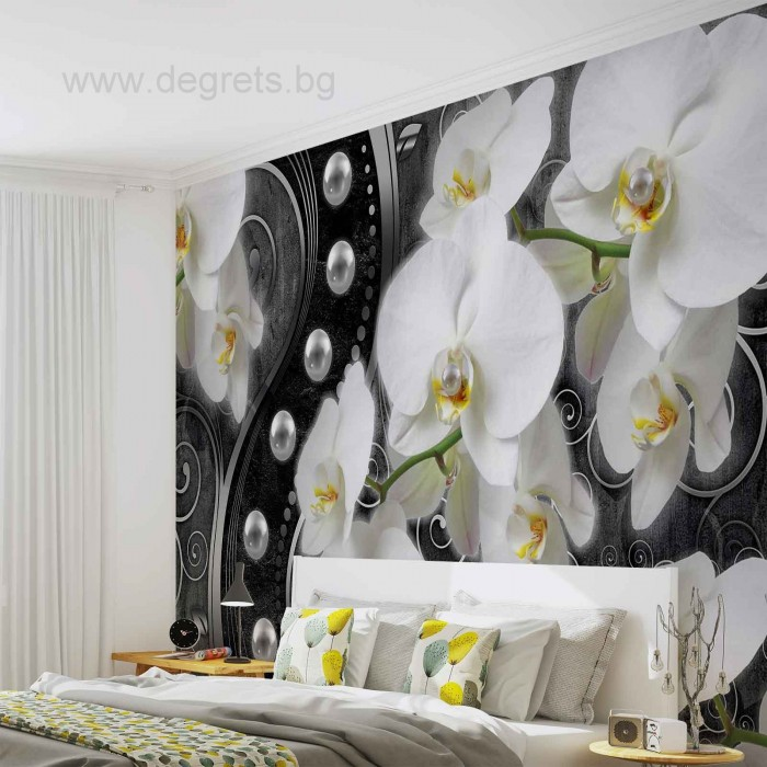 Фототапет Абстракция орхидеи 6 3D XL