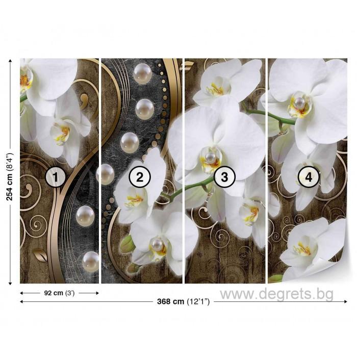 Фототапет Абстракция Орхидеи 7 3D XL