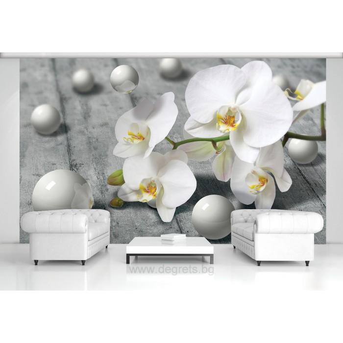 Фототапет Абстракция орхидея 1 3D