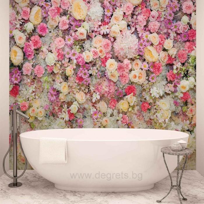 Фототапет Стена от цветя 3D