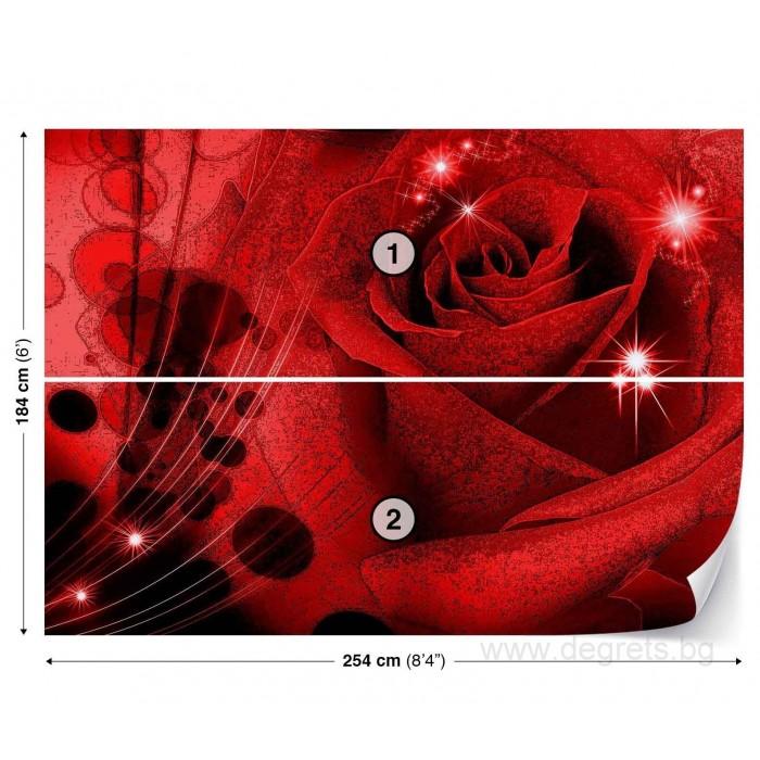 Фототапет Роза 3D абстракция