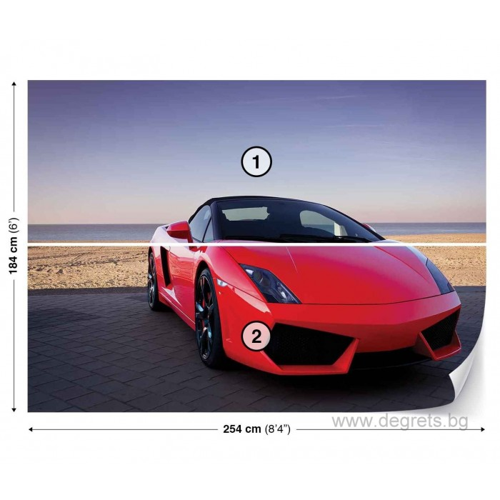 Фототапет Спортна кола L