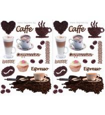 Стикер Кафе 1, 2 бр, 65x45см