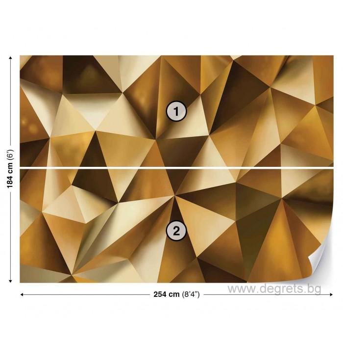 Фототапет Абстракция злато 3D