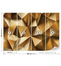 Фототапет Абстракция злато 3D XL