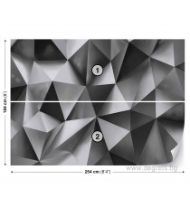 Фототапет Абстракция сребро 2 3D L