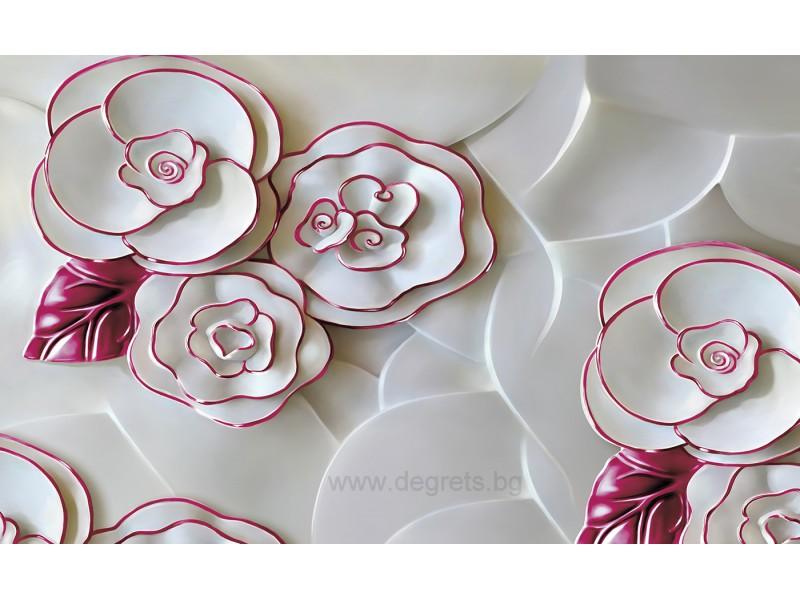 Фототапет Абстракция Рози 1 3D L