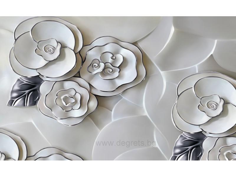 Фототапет Абстракция рози 3 3D XL