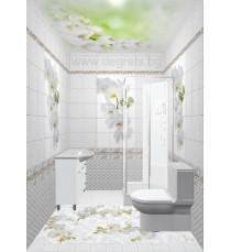 PVC панел за под Орхидея фон 3D ефект