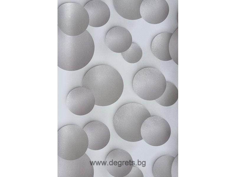 Тапет дуплекс Кръг 3D сив