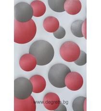 Тапет дуплекс Кръв 3D сив-червен