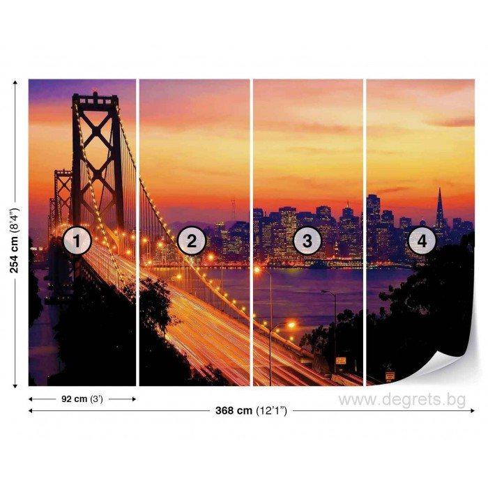 Фототапет Залез над Сан Франциско