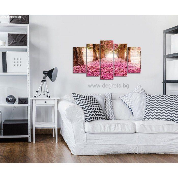 Картина Канава Розова пътека Сет 5 части