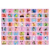 Колаж Различни герои 64 бр - розов