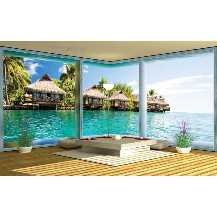 Фототапет флис Кариби 3D панорама 3XL