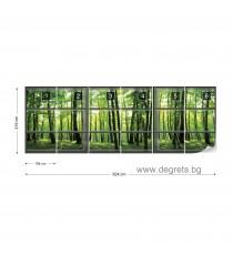 Фототапет флис Поглед към гората 3D панорама 3XL