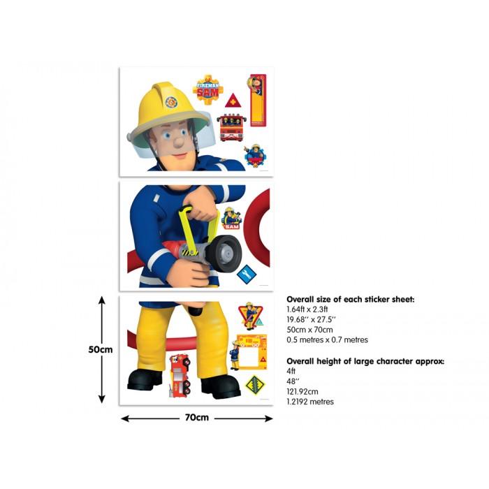 Стикер Пожарникарят Сам 122 см
