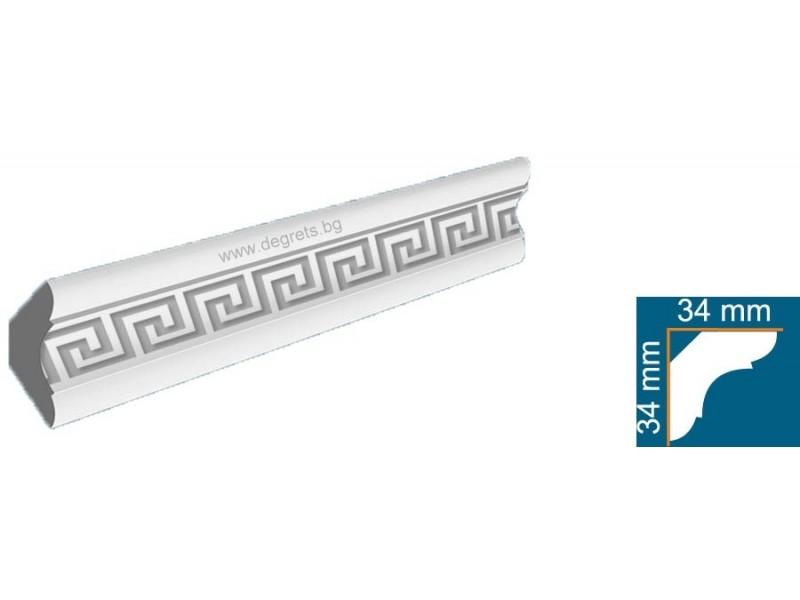 Перваз от стиропор 4502-2 Версаче Сребро