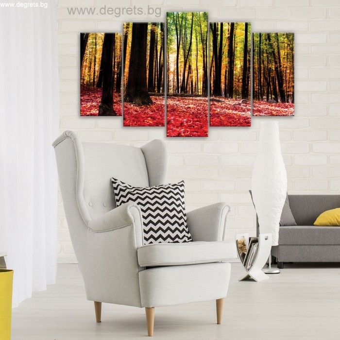 Картина Канава Есенна приказка Сет 5 части