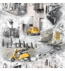 Тапет дуплекс Веспа жълт