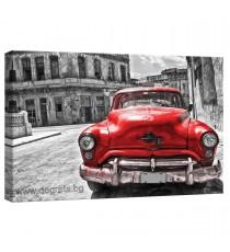Картина Канава Ретро кола - червена 2