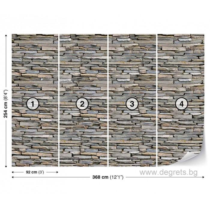 Фототапет Стена камък 2 3D XL