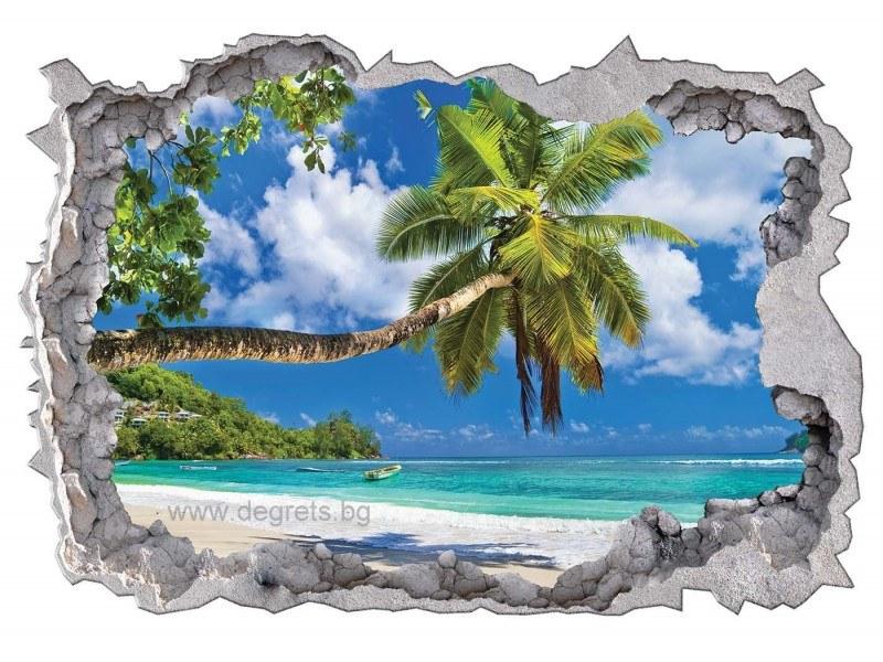 Стикер Шри Ланка 3D 65x90см
