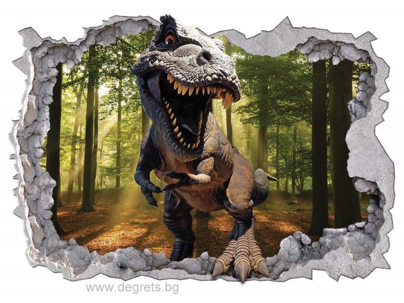 Стикер Динозавър 2 3D 65x90см