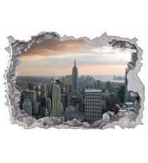 Стикер Ню Йорк небостъргачи 3D 65x90см