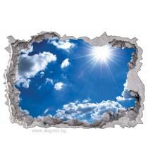 Стикер Небе 3D 65x90см