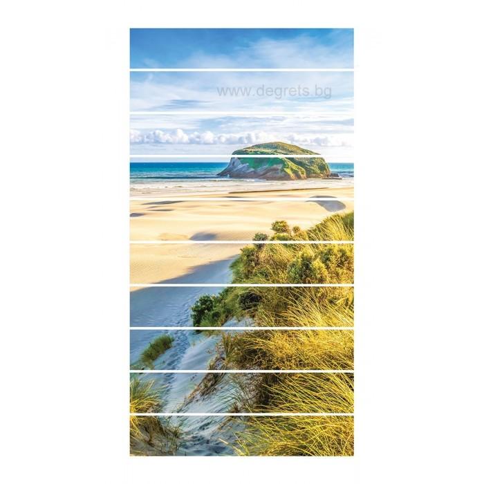 Стикер за стълби Тропически плаж 10x18x100см