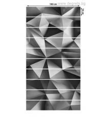 Стикер за стълби Абстракция сребро 3D 10x18x100см