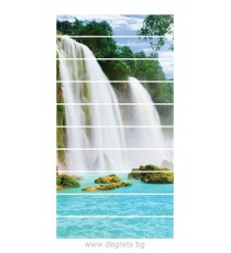 Стикер за стълби Райски водопад 3D 10x18x100см