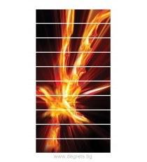Стикер за стълби Огнен порив 3D 10x18x100см