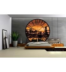Фототапет флис Часовник Залез в Ню Йорк