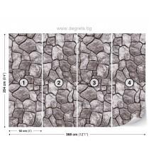 Фототапет Камък зид 3D XL