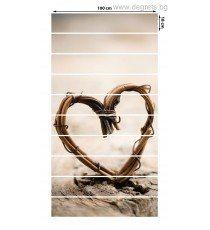 Стикер за стълби Сърце 10x18x100см