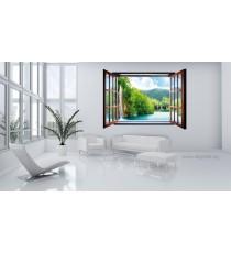 Фототапет флис Водопад 3D прозорец