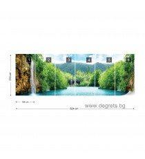 Фототапет флис Водопад при езерото 3XL