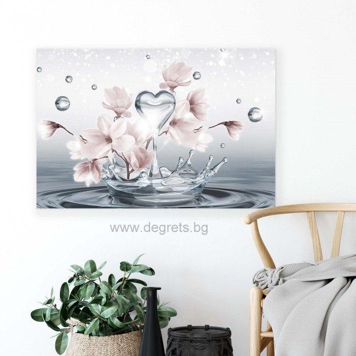Картина Канава Бяла магнолия 3D