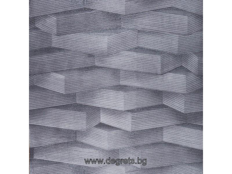 Тапет хартиен Мода 3D сив