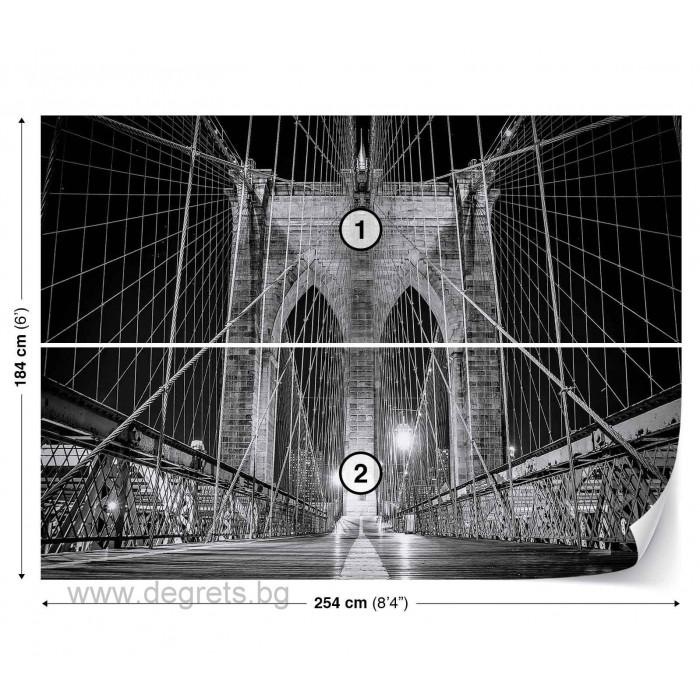 Фототапет Бруклински мост черно-бял 2