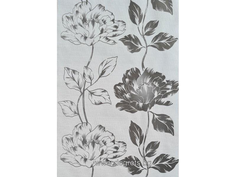 Тапет хартиен Соня бял-черен