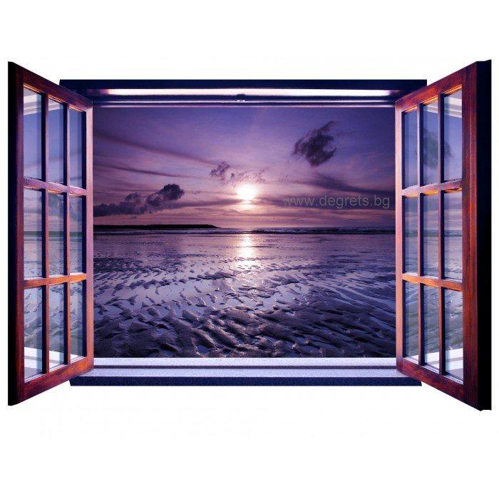 Фототапет флис Залез 3D прозорец