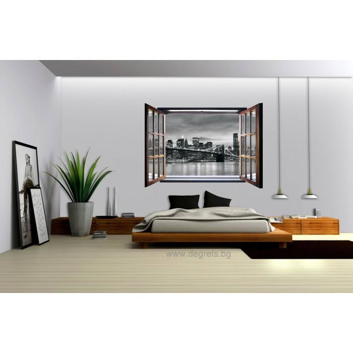 Фототапет флис Бруклин 3D прозорец