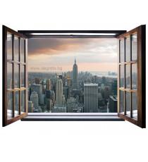 Фототапет флис Ню Йорк 3D прозорец