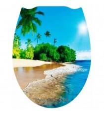 Тоалетна седалка универсална Плаж 3Д декор