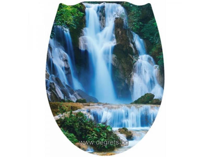 Тоалетна седалка универсална Водопад 3Д декор