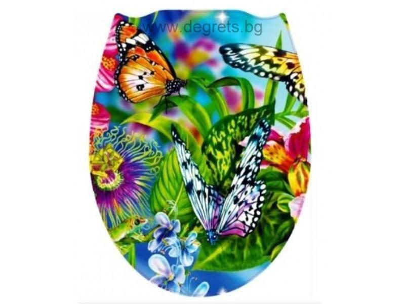 Тоалетна седалка универсална Пеперуди декор